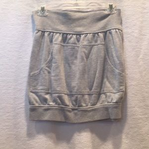 Norma Kamali everlast brand grey mini skirt